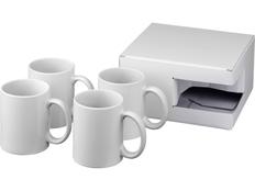 Набор Ceramic: 4 кружки для сублимации, белый фото