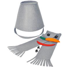 Набор для лепки снеговика Улыбка, серый фото