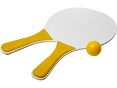 Набор для пляжных игр Bounce, белый/жёлтый фото