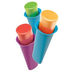 Набор форм для мороженого summer pop 6 шт., разноцветный фото