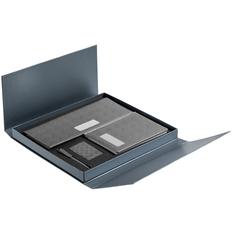 Набор подарочный Hard Work: планинг недатированный, ежедневник недатированный, ручка шариковая Prodir QS00, флешка 16 Гб, серый фото