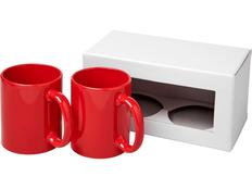 Набор из 2керамических кружек, красный фото