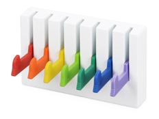 Набор из 7 крючков, белый, разноцветный фото