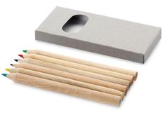 Набор цветных карандашей, 6шт, серая коробка фото