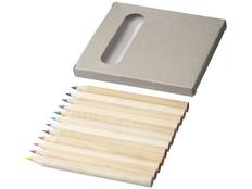 Набор цветных карандашей, 12шт, серый фото