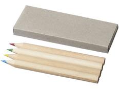 Набор цветных карандашей, 4 шт, серый фото