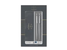 Набор Parker Jotter Core Stainless Steel CT: ручка шариковая, карандаш механический, серебряный фото