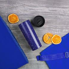 Набор подарочный B`Cozy: плед, термокружка, рюкзак, синий фото