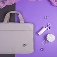 Набор подарочный Chernez La Femme: bluetooth-колонка, зарядное устройство, конференц-сумка, серый фото