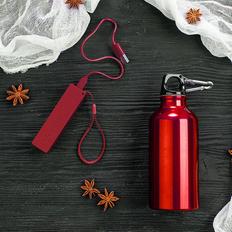 Набор подарочный EnergyHint: зарядное устройство, бутылка, красный фото