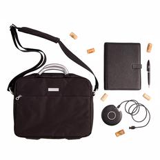 Набор подарочный FeelVille ежедневник, зарядное устройство, ручка, конференц-сумка, черный фото