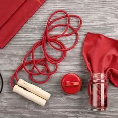 Набор подарочный FitWell: спортивное полотенце, скакалка, рюкзак, красный фото