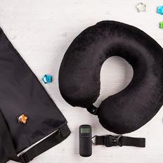 Набор подарочный Hi`Sky: подушка, весы дорожные, рюкзак, чёрный фото