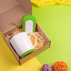 Набор подарочный Mattisse`Teas: кружка, зарядное устройство, салатовый фото