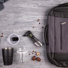 Набор подарочный Pitstop: термокружка, манометр, рюкзак, черный фото