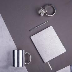 Набор подарочный Queen Diaries: ежедневник, ручка, кружка, серый фото