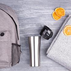 Набор подарочный Relaxing: плед, термокружка, рюкзак, серый фото