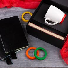 Набор подарочный Smart Talk: бизнес-блокнот, кружка, коробка, красный фото