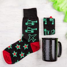 Набор подарочный StarPower: носки, кружка, чёрный фото