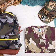 Набор подарочный StayWild: бейсболка, футболка, рюкзак, камуфляжный фото