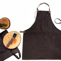 Набор подарочный Steakboss: фартук, набор для барбекю, рюкзак, коричневый фото