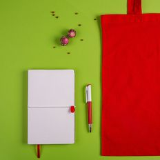 Набор подарочный White&You: бизнес-блокнот, ручка, сумка, красный фото