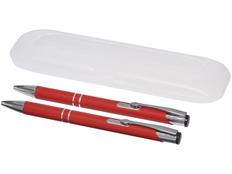 Набор Belfast: ручка шариковая металлическая, карандаш механический, красный фото