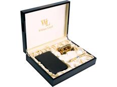 Набор William Lloyd : кошелек мужской, ручка шариковая, лорнет, черный / золотой фото