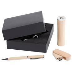 Набор Wood: аккумулятор, флешка и ручка фото