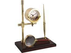 Настольный прибор Франклин, золотой, красный фото