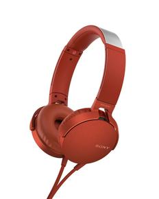 Наушники проводные накладные Sony XB 550, красные фото