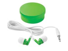 Наушники проводные внутриканальные Versa, белые/ зеленое яблоко фото