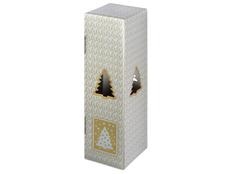 Новогодняя коробка для шампанского, серебряная фото