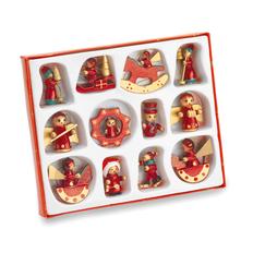 Новогодний набор из 12 предметов Laponia, красный фото