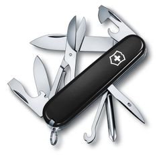 Нож перочинный 14 функций, 91 мм, Victorinox Super Tinker, черный / серебряный фото