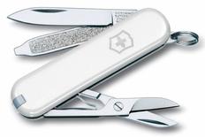 Нож Victorinox Classic, 5.8 см, 7 функций, белый, в подарочной коробке фото