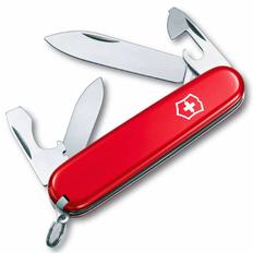 Нож Victorinox Recruit, красный, 84 мм, 10 функций фото