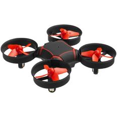 Квадрокоптер портативный Buzzy, черный/ красный фото