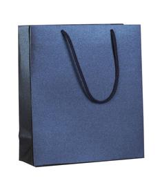 Пакет бумажный Блеск, малый, синий фото
