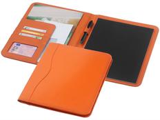 Папка для документов с блокнотом Ebony А4, оранжевая фото