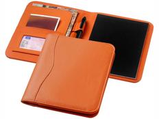 Папка для документов с блокнотом Ebony А5, оранжевая фото