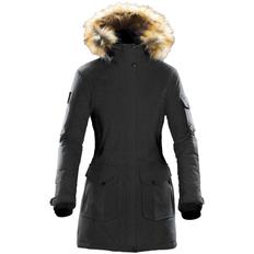 Парка с капюшоном с опушкой женская Stormtech Explorer, серый меланж фото