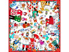 Платок Дымковская игрушка фото