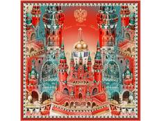 Платок Кремль - Москва - Фаберже фото