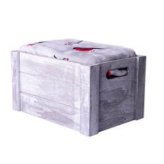 """Плед новогодний """"Снегири"""" в подарочной коробке, 130х150 см, серый с красным фото"""