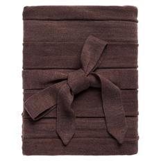 Плед Pleat, коричневый фото