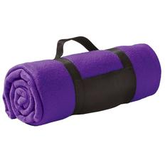 Плед Сolor, фиолетовый, 130х150 см, флис 220 гр/м2, шелкография, вышивка фото