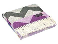 Плед Zig Zag, серый/фиолетовый фото