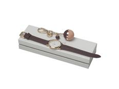 Подарочный набор Bird: брелок, часы наручные, бордовый фото