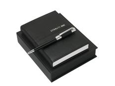 Подарочный набор Cerruti 1881 Holt: блокнот A6, ручка шариковая, чёрный фото
